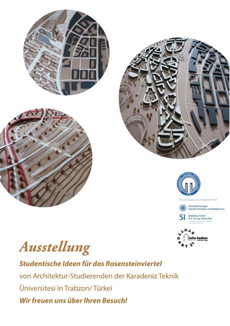 Plakat zur Ausstellung Studentische Ideen für das RosensteinViertel