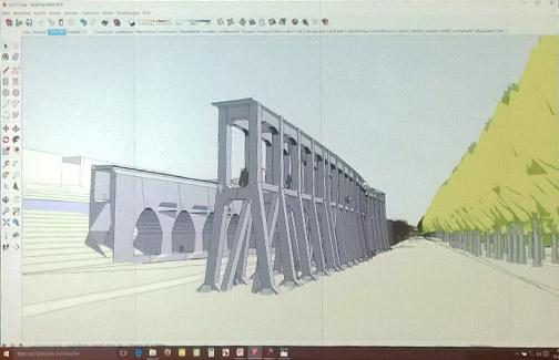 Der Gleisbogen 3-dimensional (Modell Weigel, Foto: Infoladen)